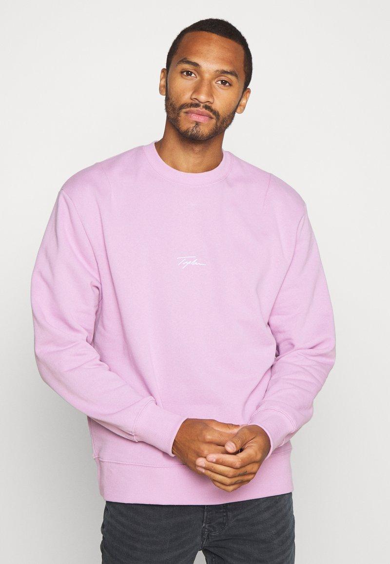 Topman - UNISEX SIGNATURE - Sweatshirt - lilac