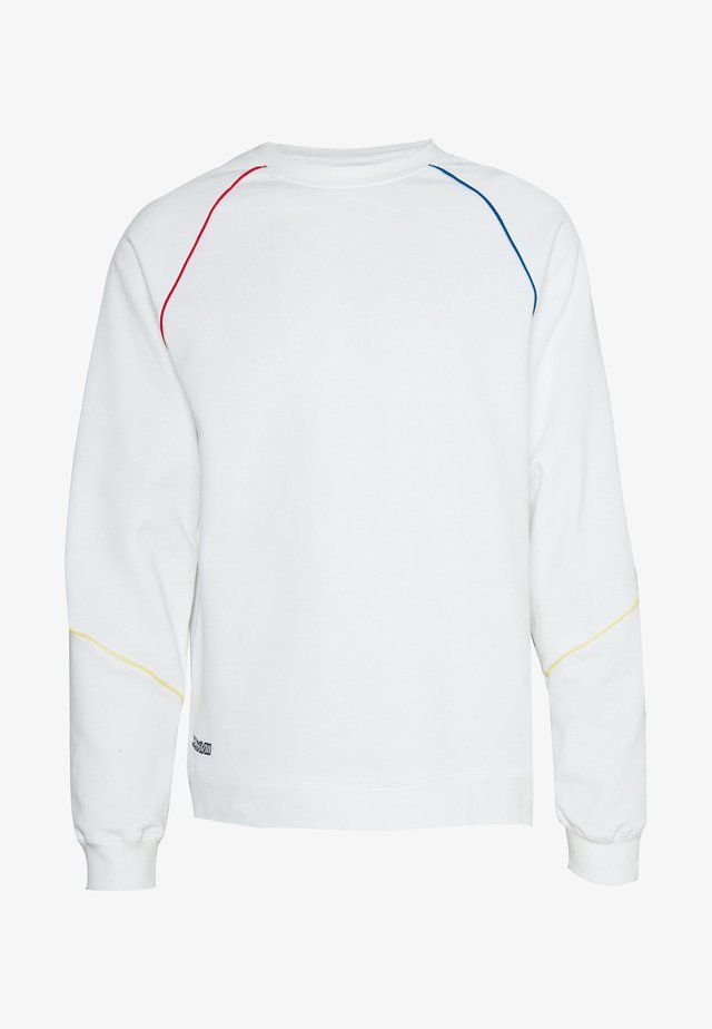 WHITE PRIMARY PIPED SWEAT - Sweatshirt - mid wash