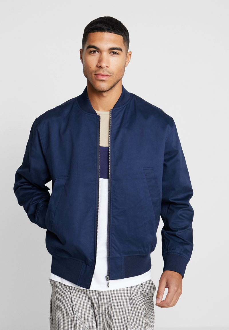 Topman - SMART ANTHONY - Bomber Jacket - navy
