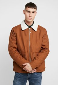 Topman - MICHIGAN COLLAR - Lehká bunda - brown - 0