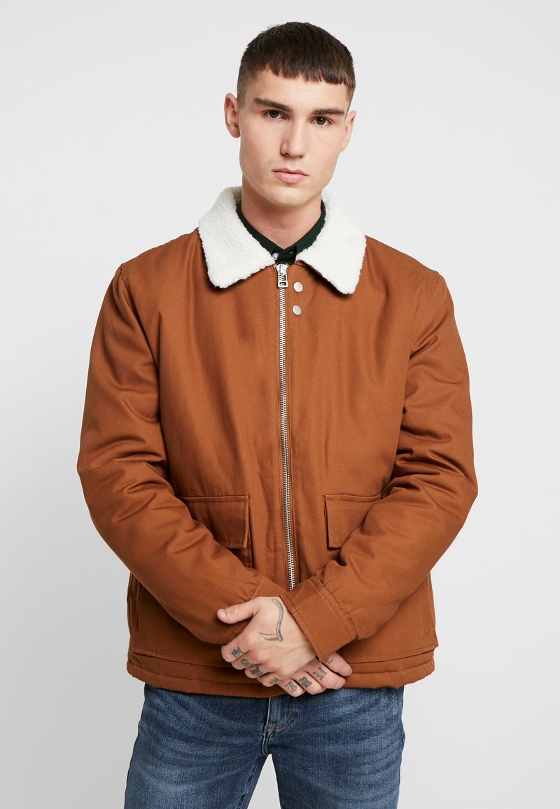 Topman - MICHIGAN COLLAR - Lehká bunda - brown
