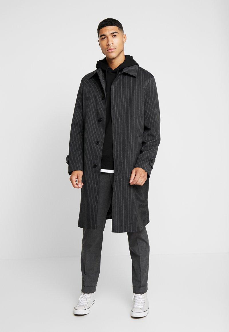 Topman - SMART PINSTRIPE - Abrigo - dark grey