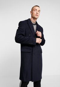 Topman - BERRY FRASER DOUBLE BREASTED - Cappotto classico - navy - 0