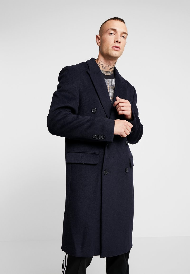 Topman - BERRY FRASER DOUBLE BREASTED - Cappotto classico - navy