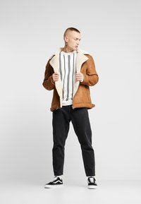 Topman - MALMO BIKER - Giacca in similpelle - brown - 1