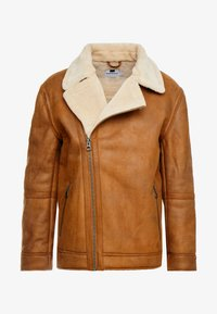 Topman - MALMO BIKER - Giacca in similpelle - brown - 6