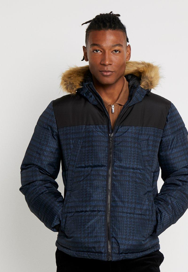 Topman - CHECK POLAR - Zimní bunda - dark blue