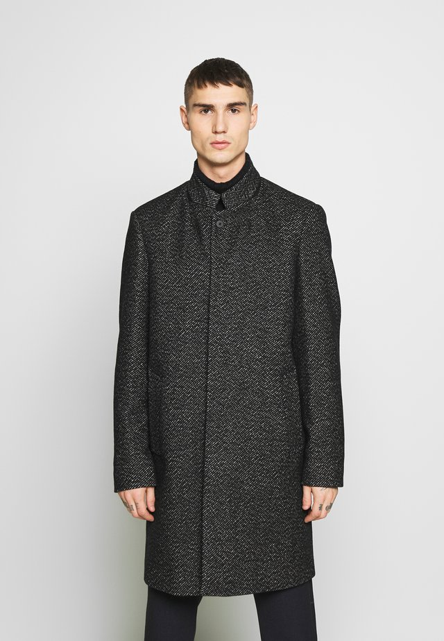 HIGH NECK TEX - Cappotto classico - black