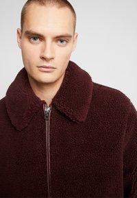 Topman - PLUM TEDDY  - Summer jacket - burgundy - 4