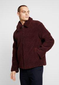 Topman - PLUM TEDDY  - Summer jacket - burgundy - 0