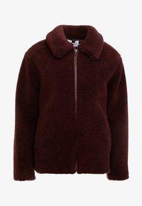 Topman - PLUM TEDDY  - Summer jacket - burgundy - 3