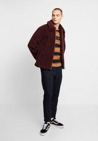 Topman - PLUM TEDDY  - Summer jacket - burgundy - 1
