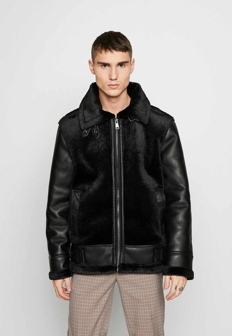 Topman - Giacca in similpelle - black