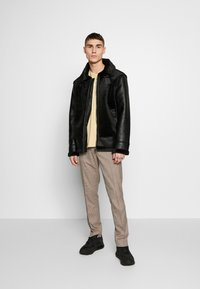 Topman - Giacca in similpelle - black - 1