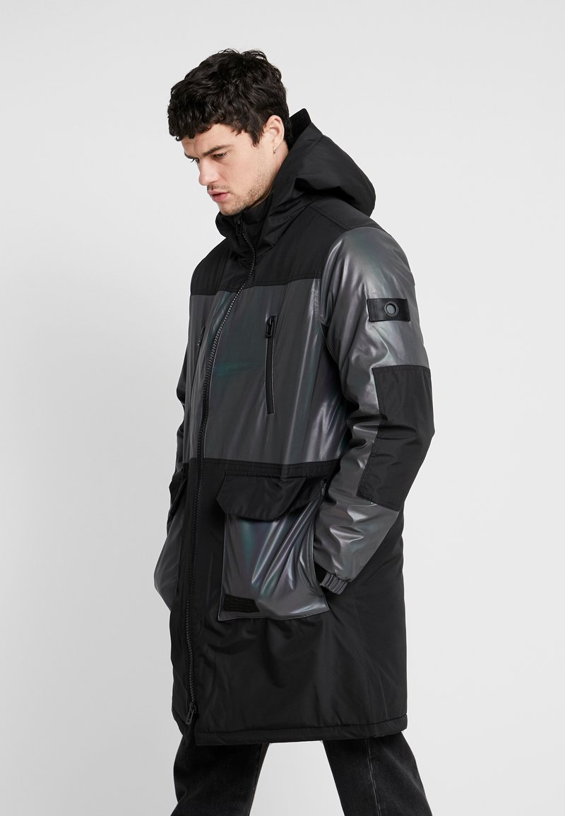Topman - IRRESDESCENT PUFFER - Giacca invernale - black