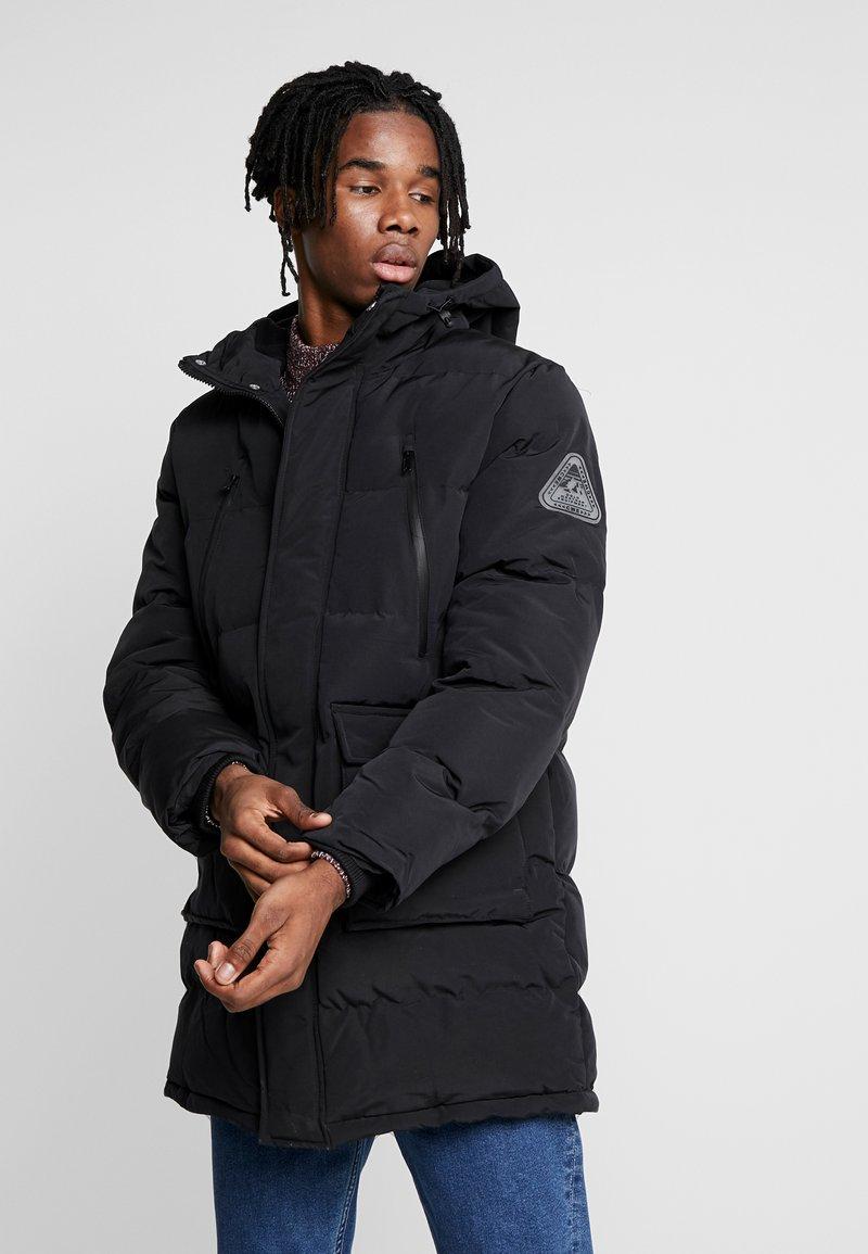 Topman - LONGLINE PUFFER - Winter coat - black