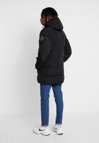 Topman - LONGLINE PUFFER - Winter coat - black - 2
