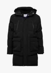 Topman - LONGLINE PUFFER - Winter coat - black - 5