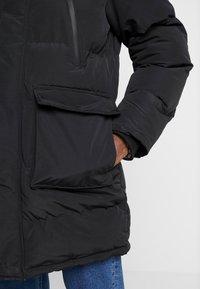 Topman - LONGLINE PUFFER - Winter coat - black - 6