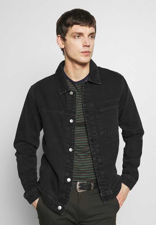 1 POCKET ORGANIC - Giacca di jeans - black