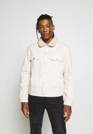 BORG POPPER TRUCKER - Denim jacket - stone