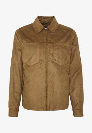 POCKET SUEDETTE - Faux leather jacket - tan