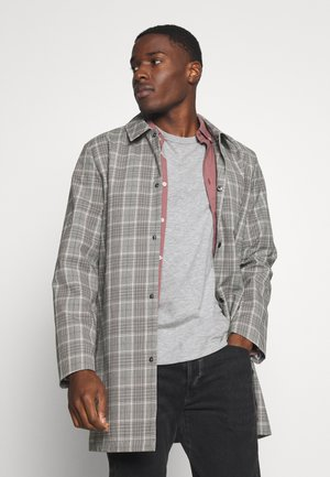 CRISP CHECK SHORT - Short coat - grey