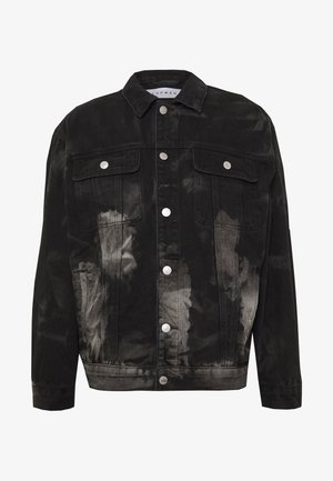 MARBLE TRUCKER - Denim jacket - black