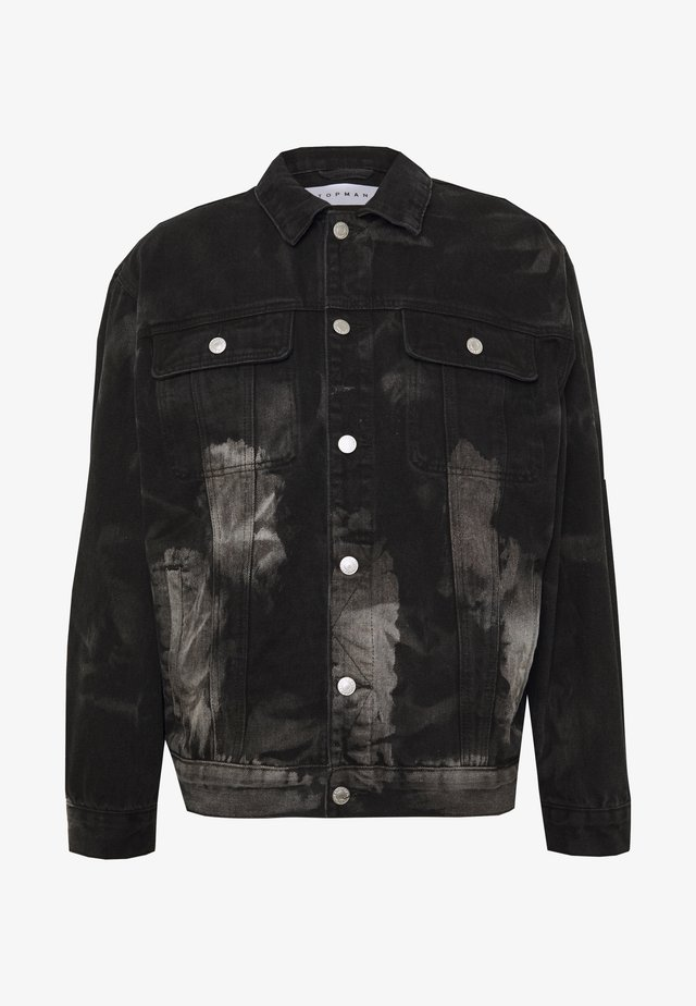 MARBLE TRUCKER - Giacca di jeans - black