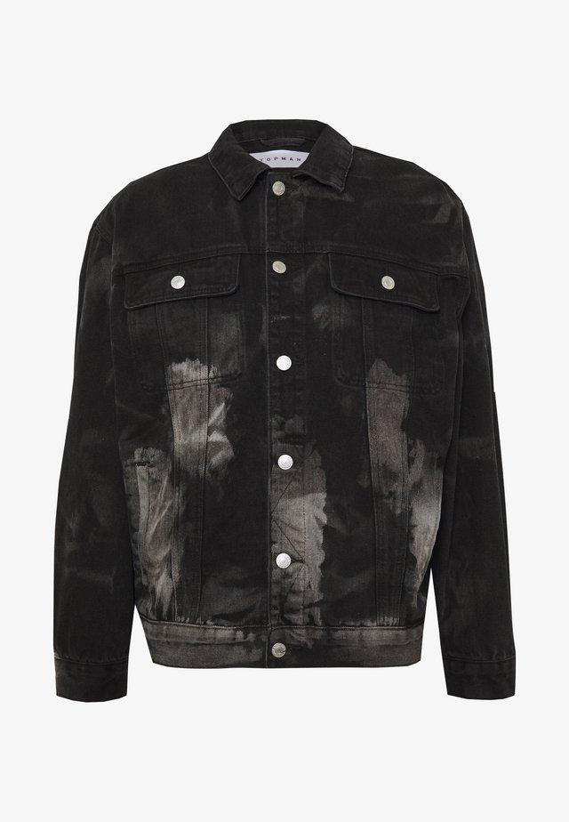 MARBLE TRUCKER - Kurtka jeansowa - black