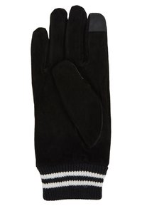 Topman - GLOVES STRIPE CUFF - Fingervantar - black - 2