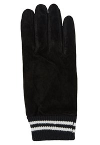 Topman - GLOVES STRIPE CUFF - Fingervantar - black - 1