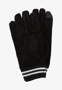 Topman - GLOVES STRIPE CUFF - Fingervantar - black - 0