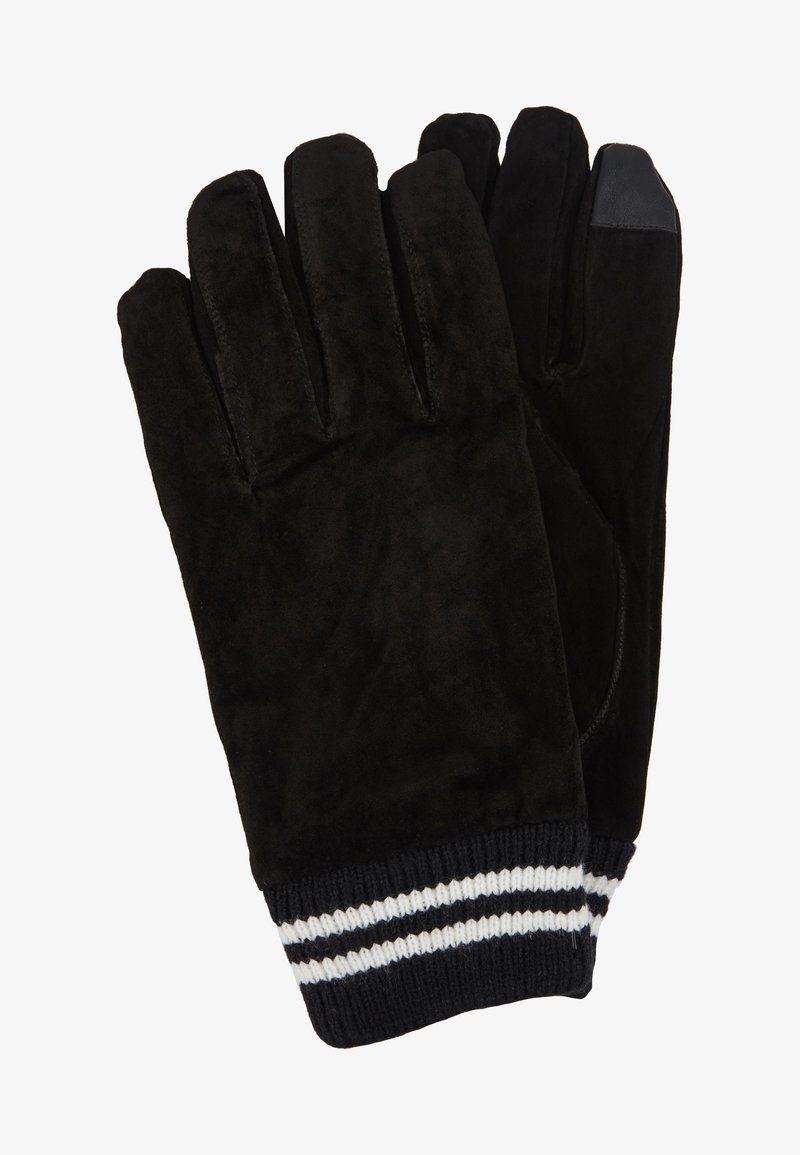 Topman - GLOVES STRIPE CUFF - Fingervantar - black