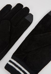 Topman - GLOVES STRIPE CUFF - Fingervantar - black - 3