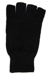 Topman - FINGERLESS GLOVE - Fingerless gloves - black - 1