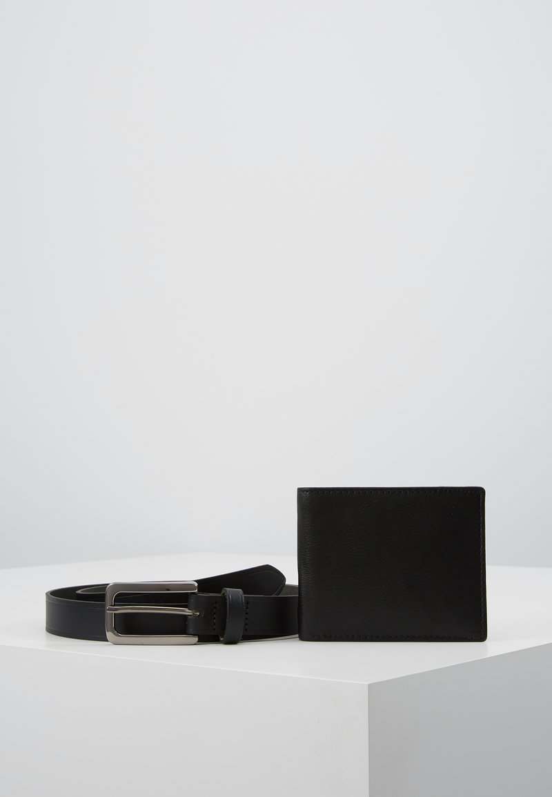 Topman - BELT WALLET SET - Portefeuille - black