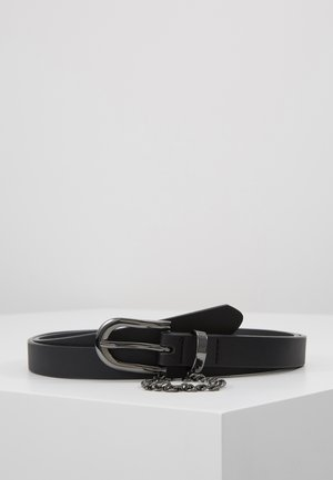 SKINNY CHAIN BELT - Vyö - black