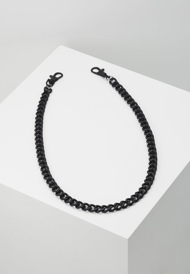 BLACK WALLET CHAIN - Keyring - black