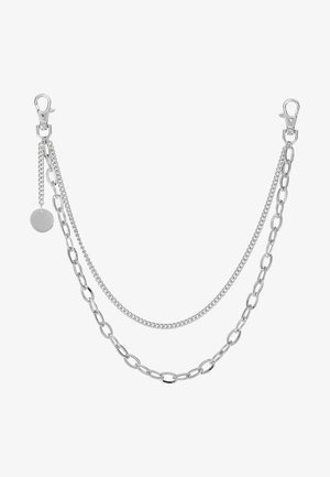 INDUSTRIAL WALLET CHAIN - Klíčenka - rhodium