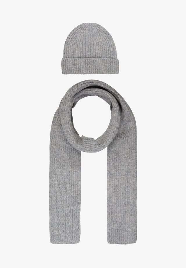 LAMBSWOOL  BEANIE AND SCARF SET - Schal - grey