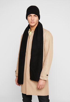 LAMBSWOOL  BEANIE AND SCARF SET - Scarf - black