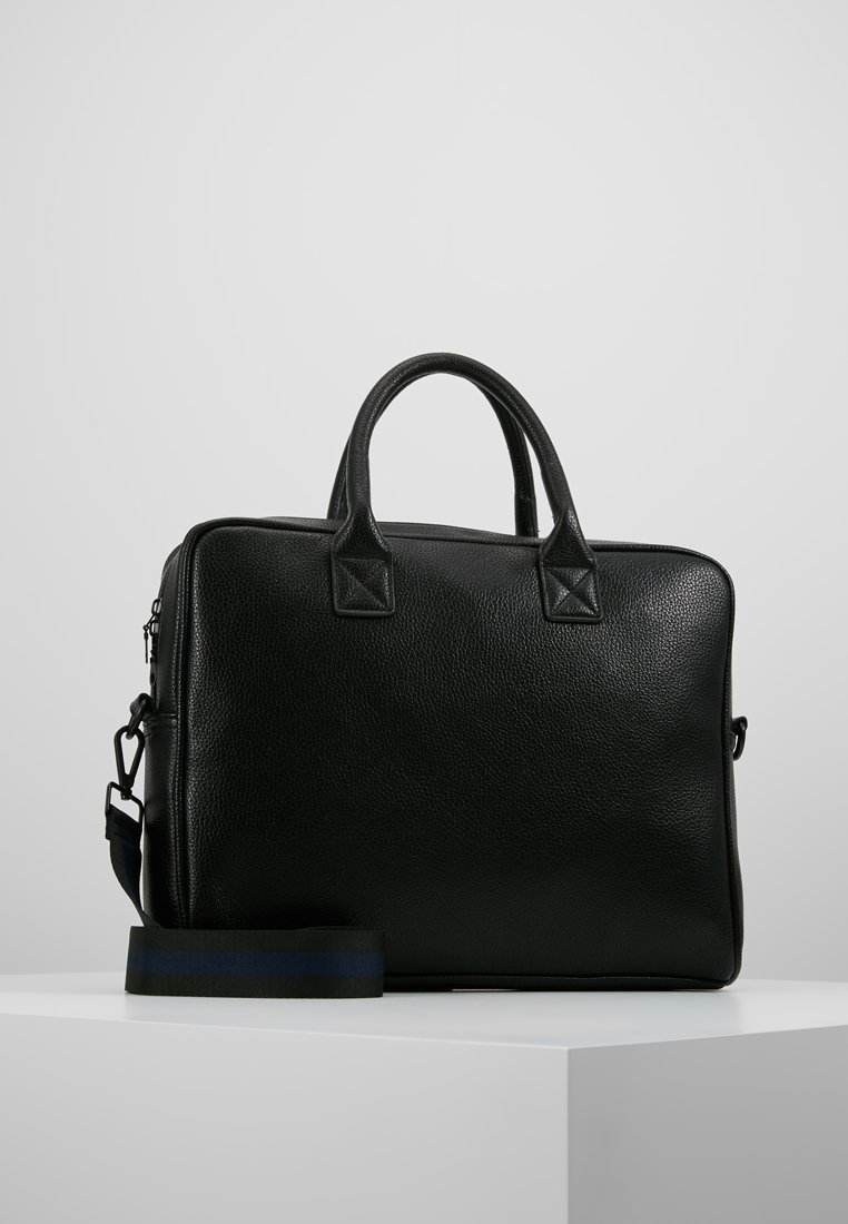 Topman - TEXTURED LAPTOP BAG - Briefcase - black