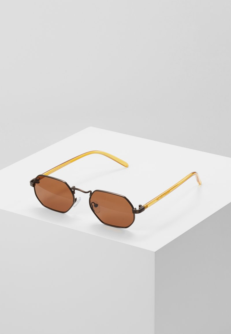 Topman - HEXAGON - Sunglasses - gold-coloured