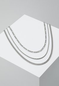 Topman - MULTIROW CHAIN 3 PACK - Necklace - silver-coloured - 0