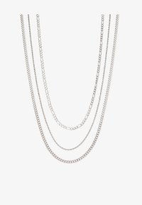 Topman - MULTIROW CHAIN 3 PACK - Necklace - silver-coloured - 3