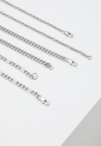 Topman - MULTIROW CHAIN 3 PACK - Necklace - silver-coloured - 2