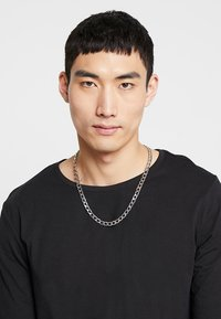 Topman - CLEAN FLAT CHAIN - Halsband - silver-coloured - 1