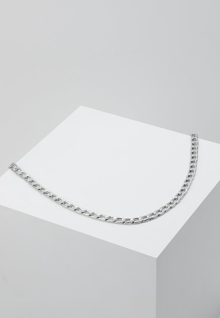 Topman - CLEAN FLAT CHAIN - Halsband - silver-coloured