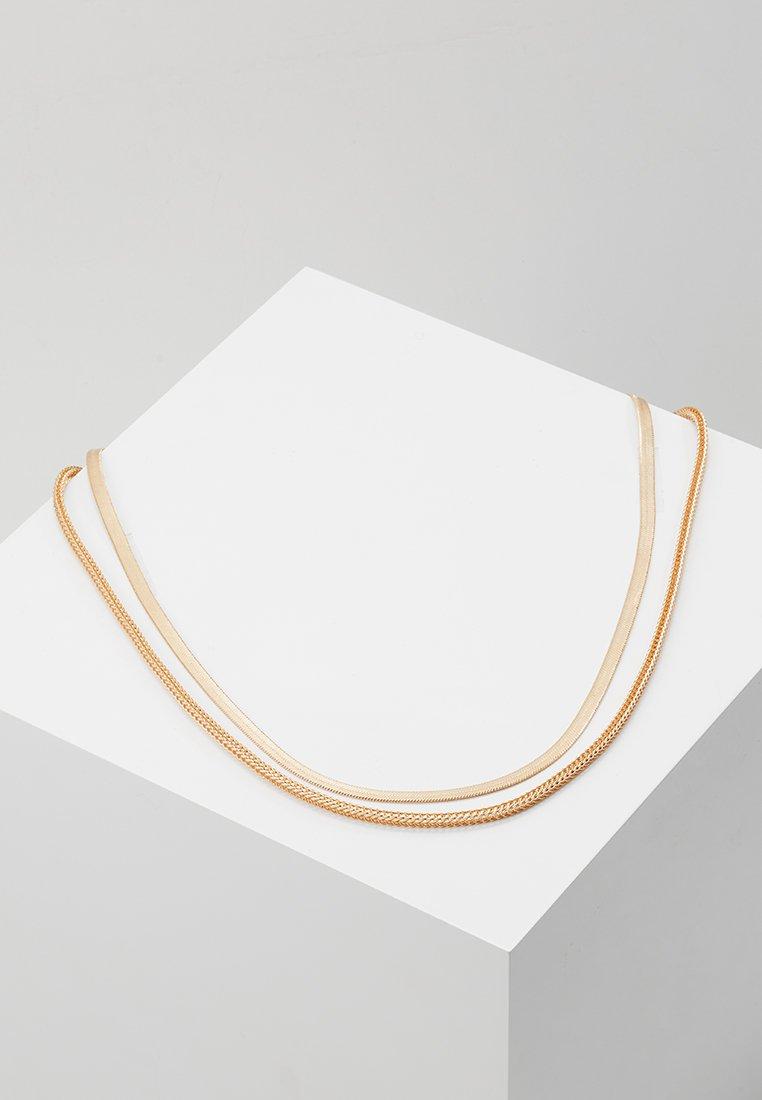 Topman - DOUBLE FLAT CHAIN - Halskette - gold-coloured